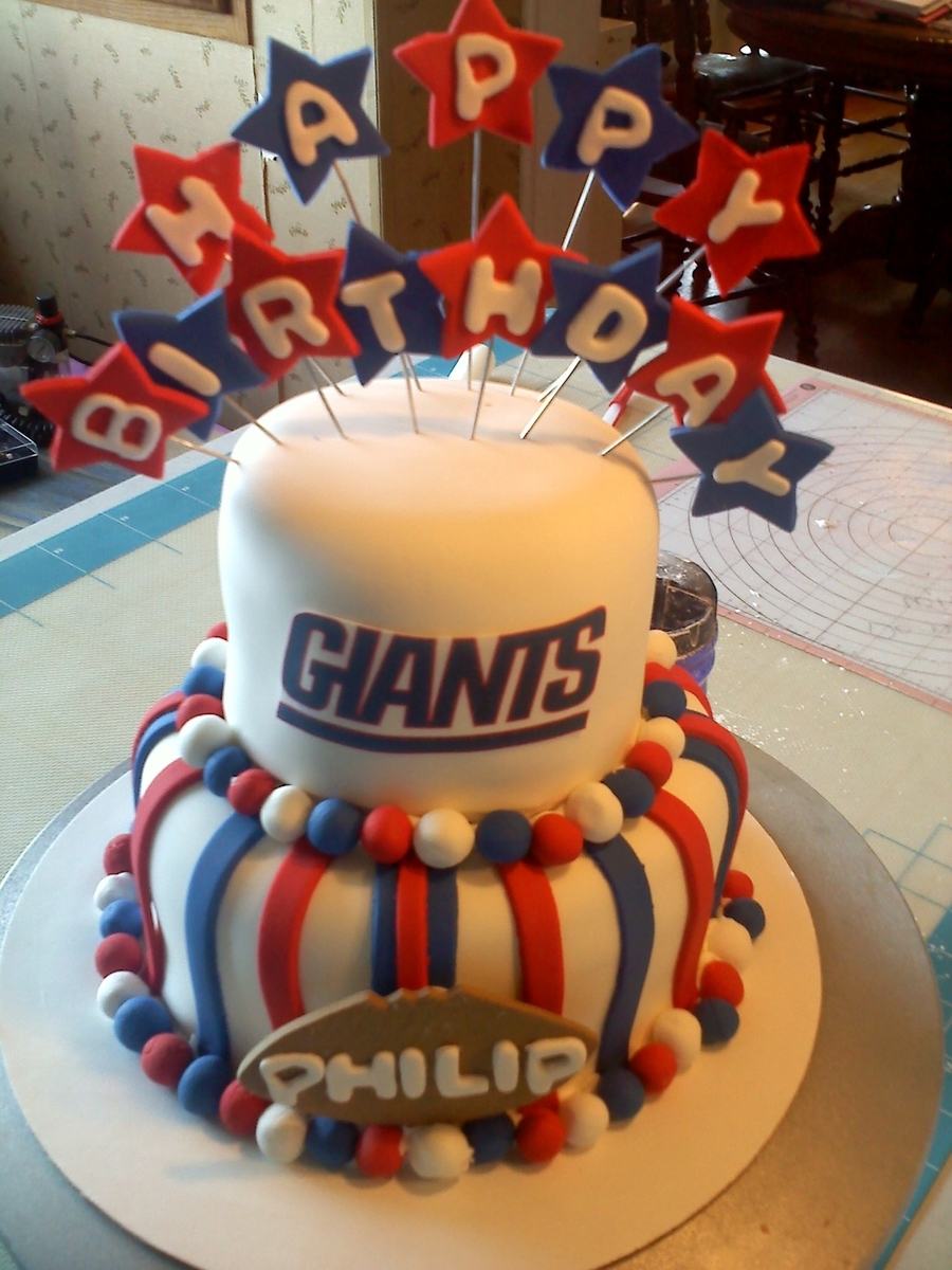 Astonishing Ny Giants Cake Cakecentral Com Funny Birthday Cards Online Inifodamsfinfo