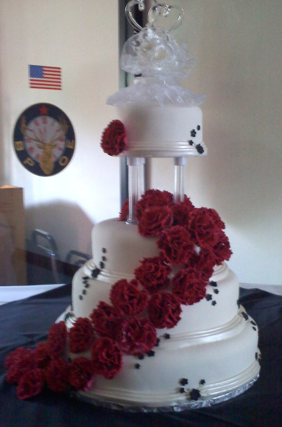 Carnation Wedding Cake on Cake Central