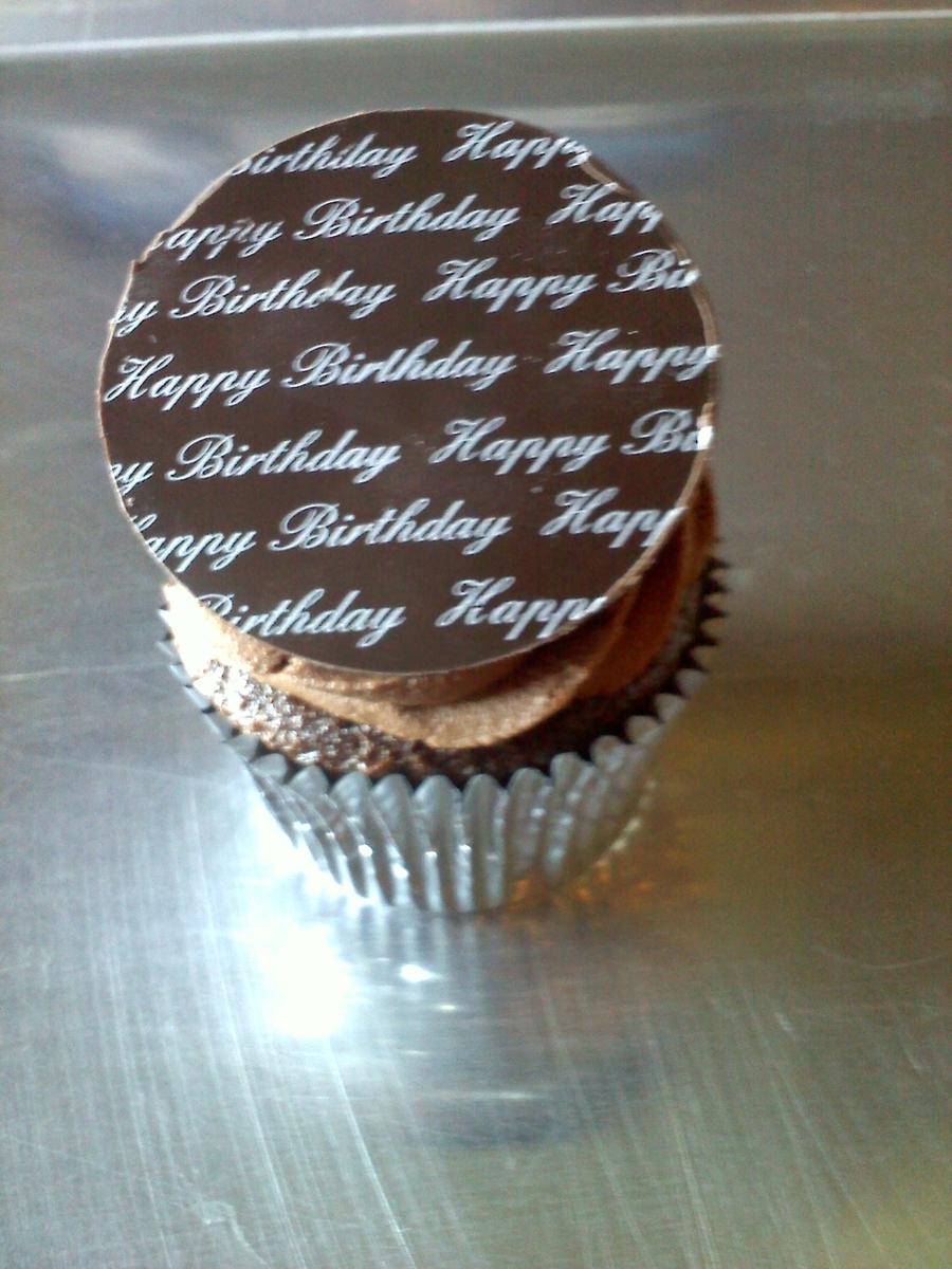 Happy Birthday Chocolate Cupcakes - CakeCentral.com