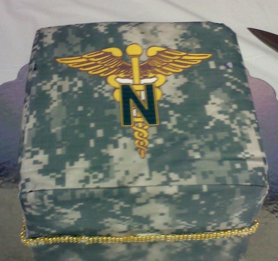 Acu Army Nurse Cake - CakeCentral com