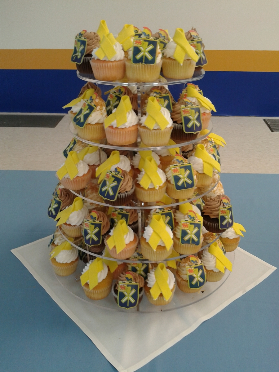 Army Unit Cupcake Tower  on Cake Central