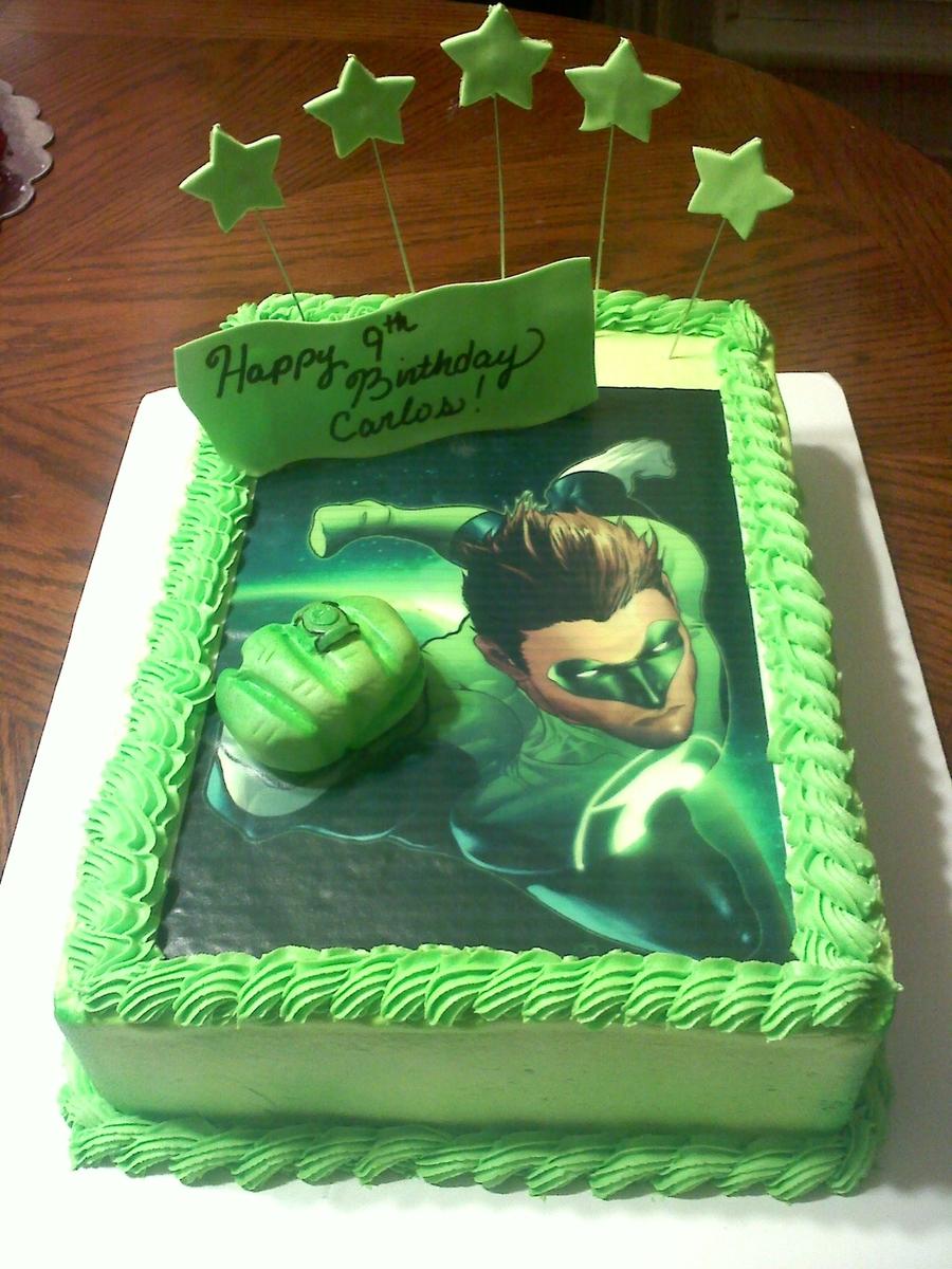 Green Lantern Cake - CakeCentral.com