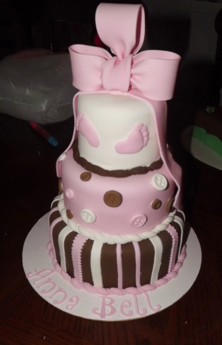 Ribbons And Bows (A Small Version) on Cake Central