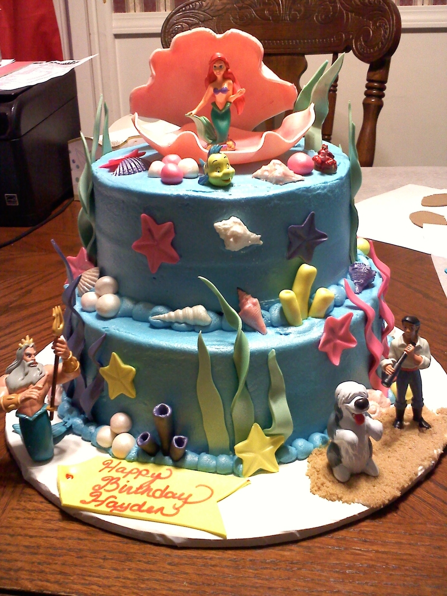 Little Mermaid Cake on Cake Central
