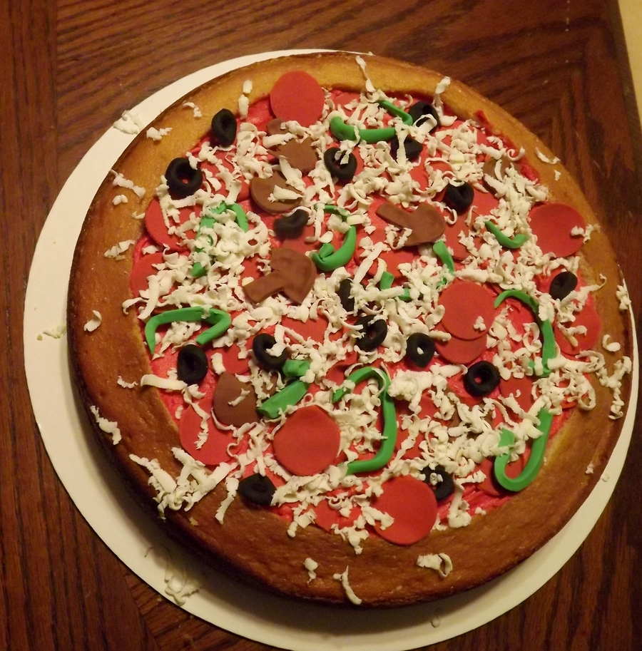 Pizza Cake on Cake Central