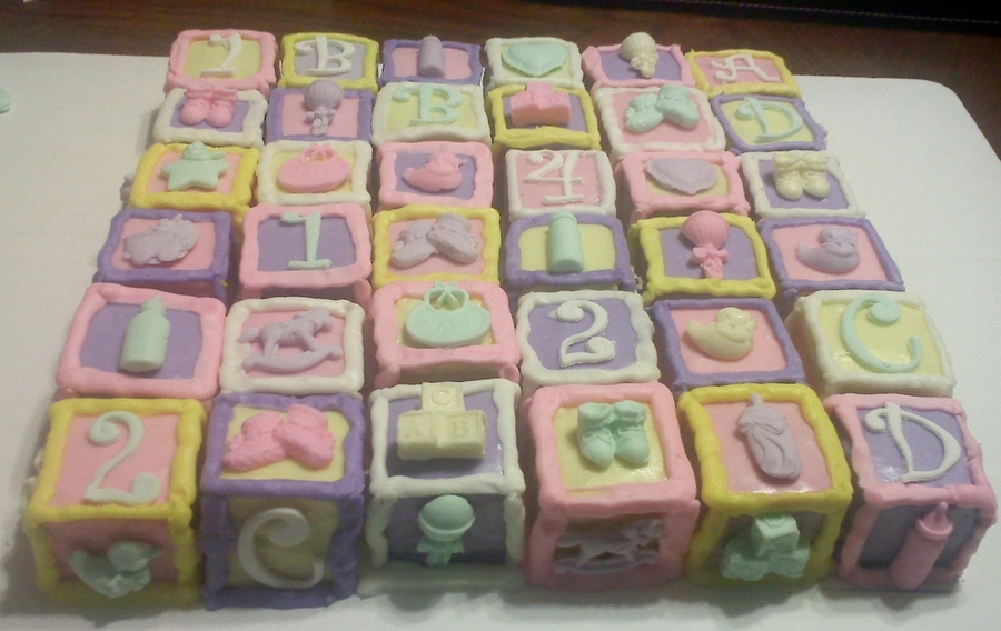 36 Baby Blocks on Cake Central