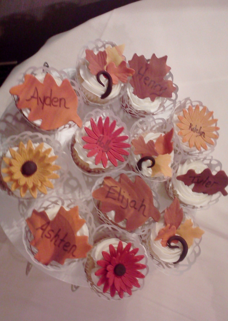 Fall Wedding Cupcakes on Cake Central