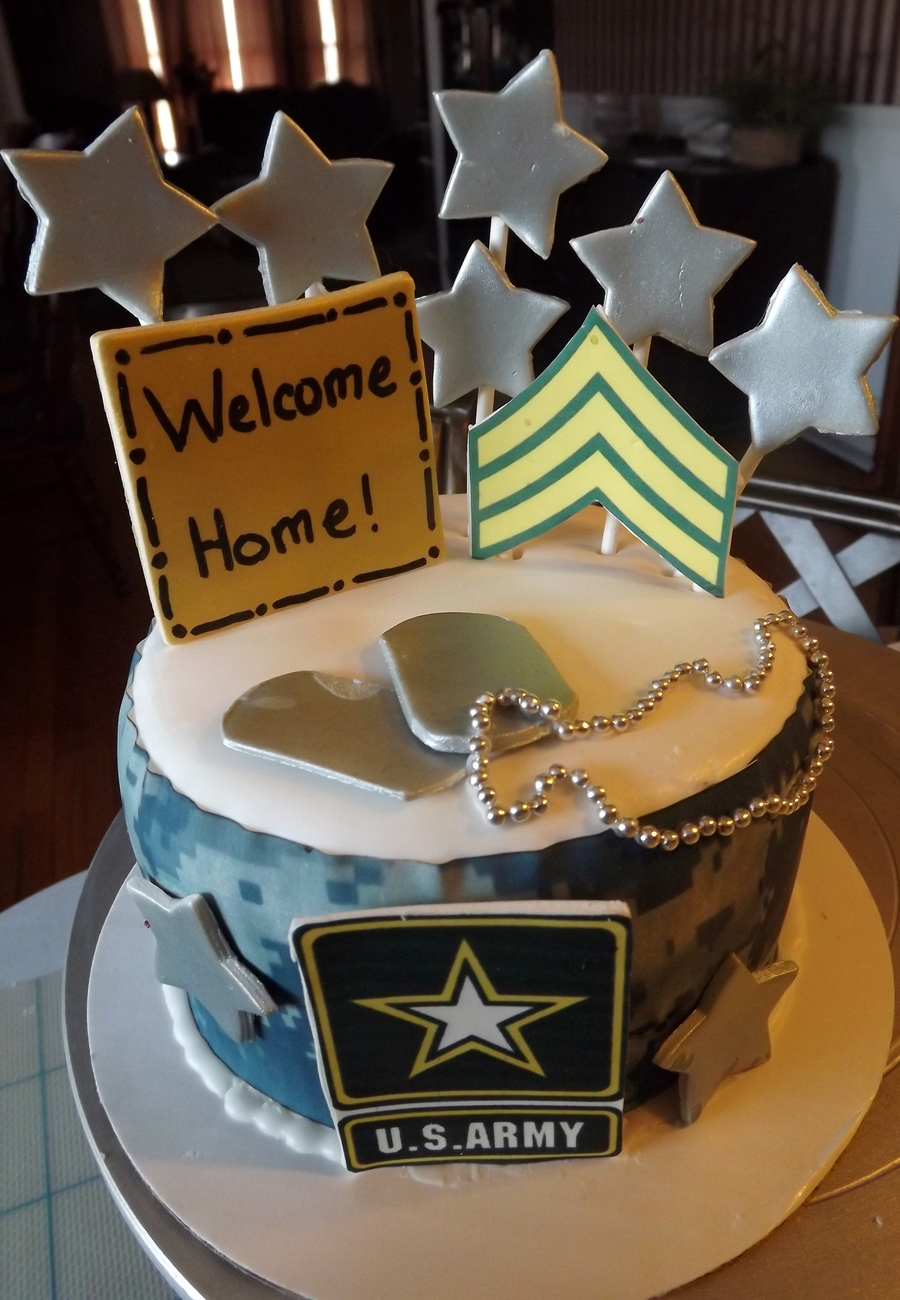 army welcome home cake cakecentral com