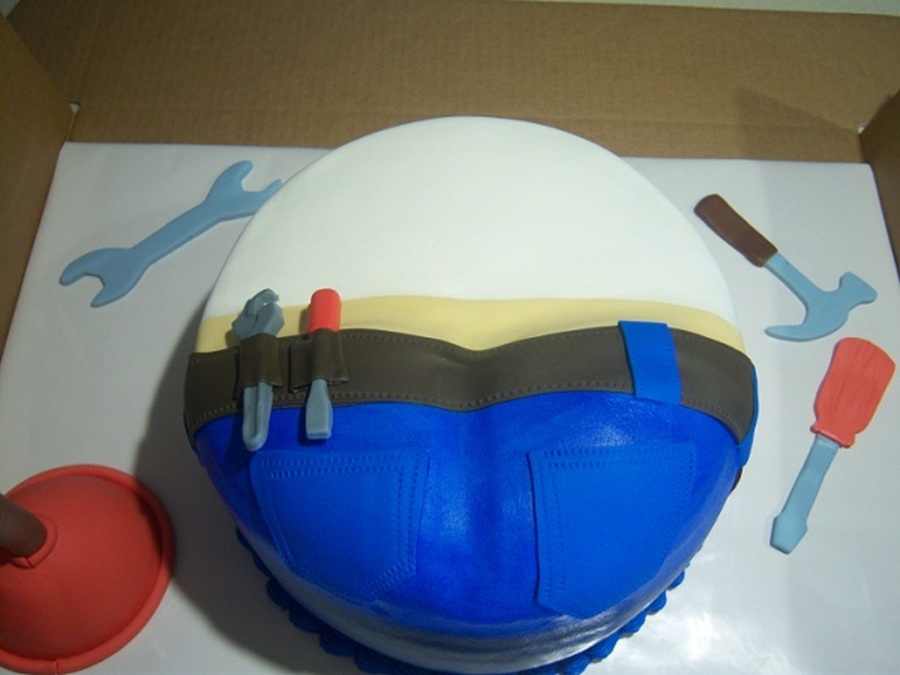 Plumbers Butt 3 on Cake Central