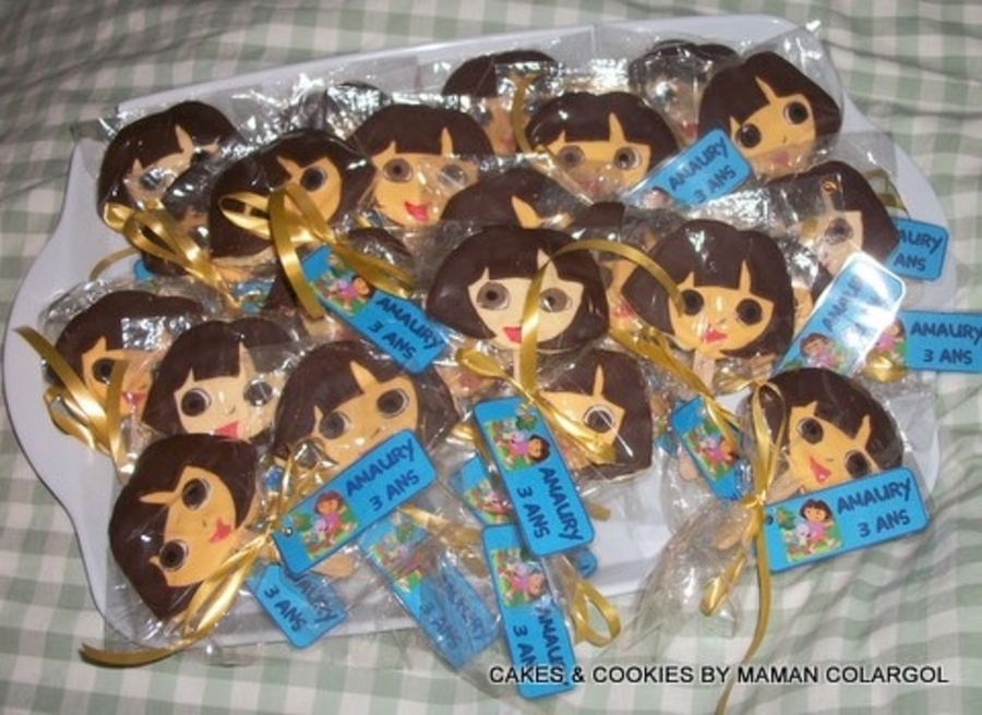 Sugar Cookies Lollipops Dora on Cake Central