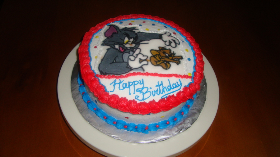 Fantastic Tom And Jerry Birthday Cake Cakecentral Com Birthday Cards Printable Trancafe Filternl