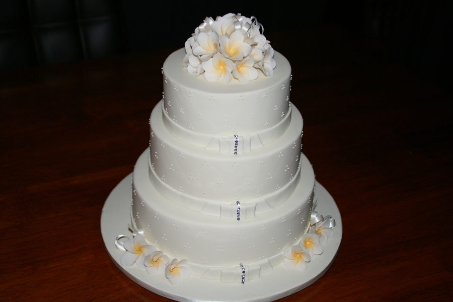 3 Tier Frangipani Cake on Cake Central