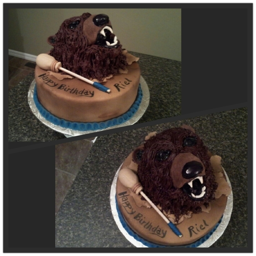 Bear & Drum Birthday Cake on Cake Central