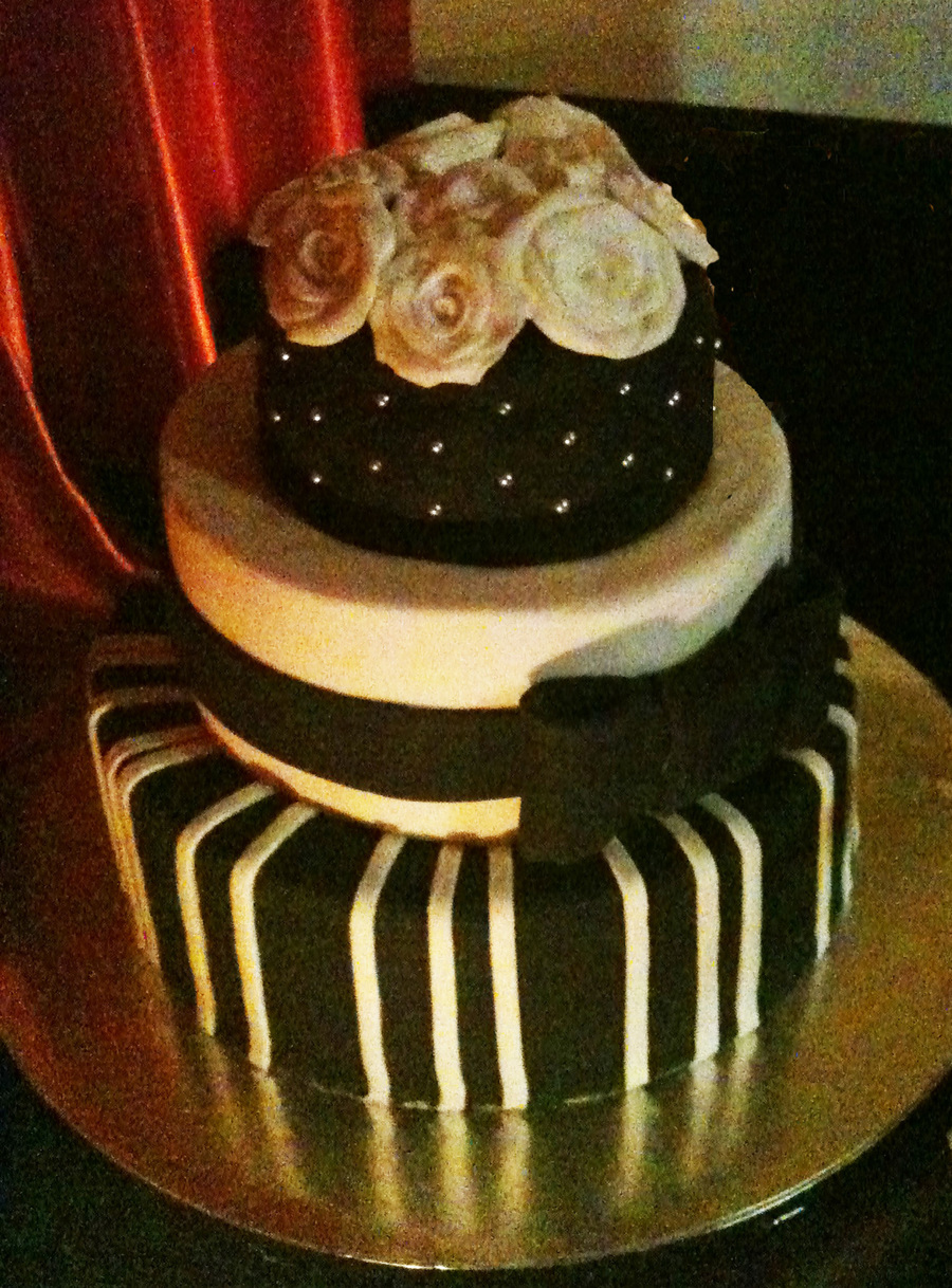 My Own Wedding Cake!  on Cake Central