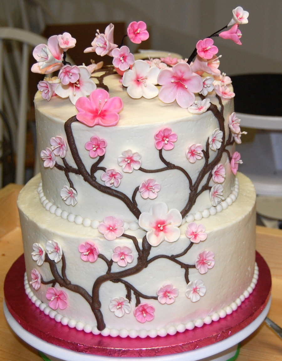 japanese cherry blossom wedding cake japanese cherry blossom cake cakecentral 16585