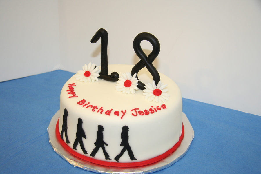 Awesome Beatles Abbey Road 18Th Birthday Cake Cakecentral Com Funny Birthday Cards Online Alyptdamsfinfo