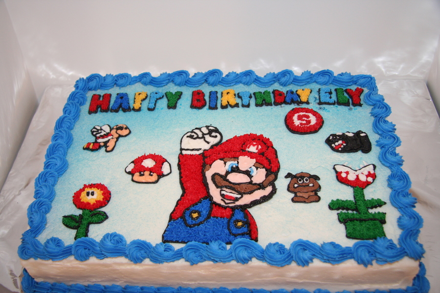 Superb Mario Brothers Birthday Cake Cakecentral Com Funny Birthday Cards Online Bapapcheapnameinfo