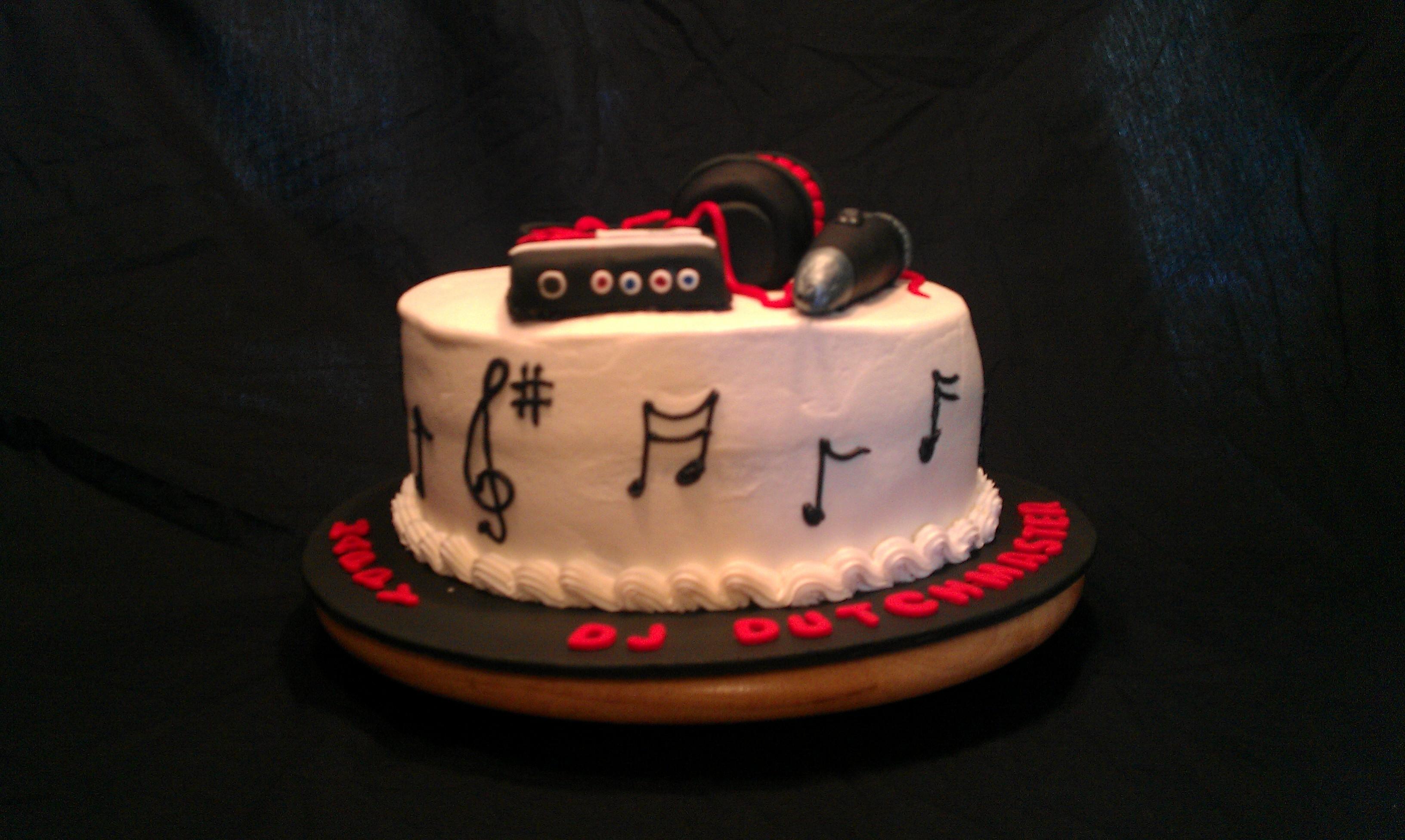 Themed Cake For Birthday : Dj Themed Birthday Cake - CakeCentral.com