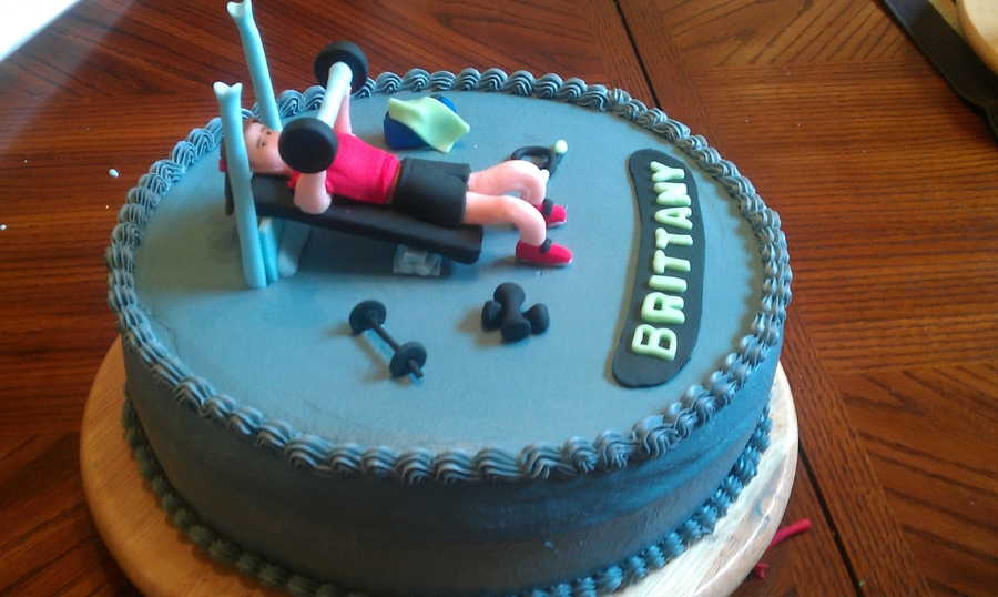 Birthday Cake Images Gym ~ Fitness cake cakecentral