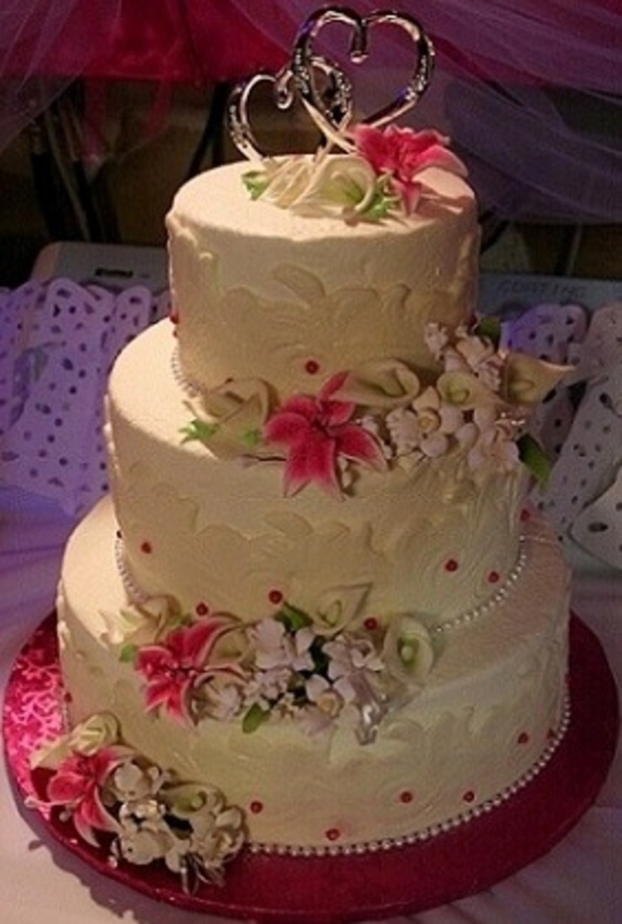 Maria's Wedding Cake on Cake Central