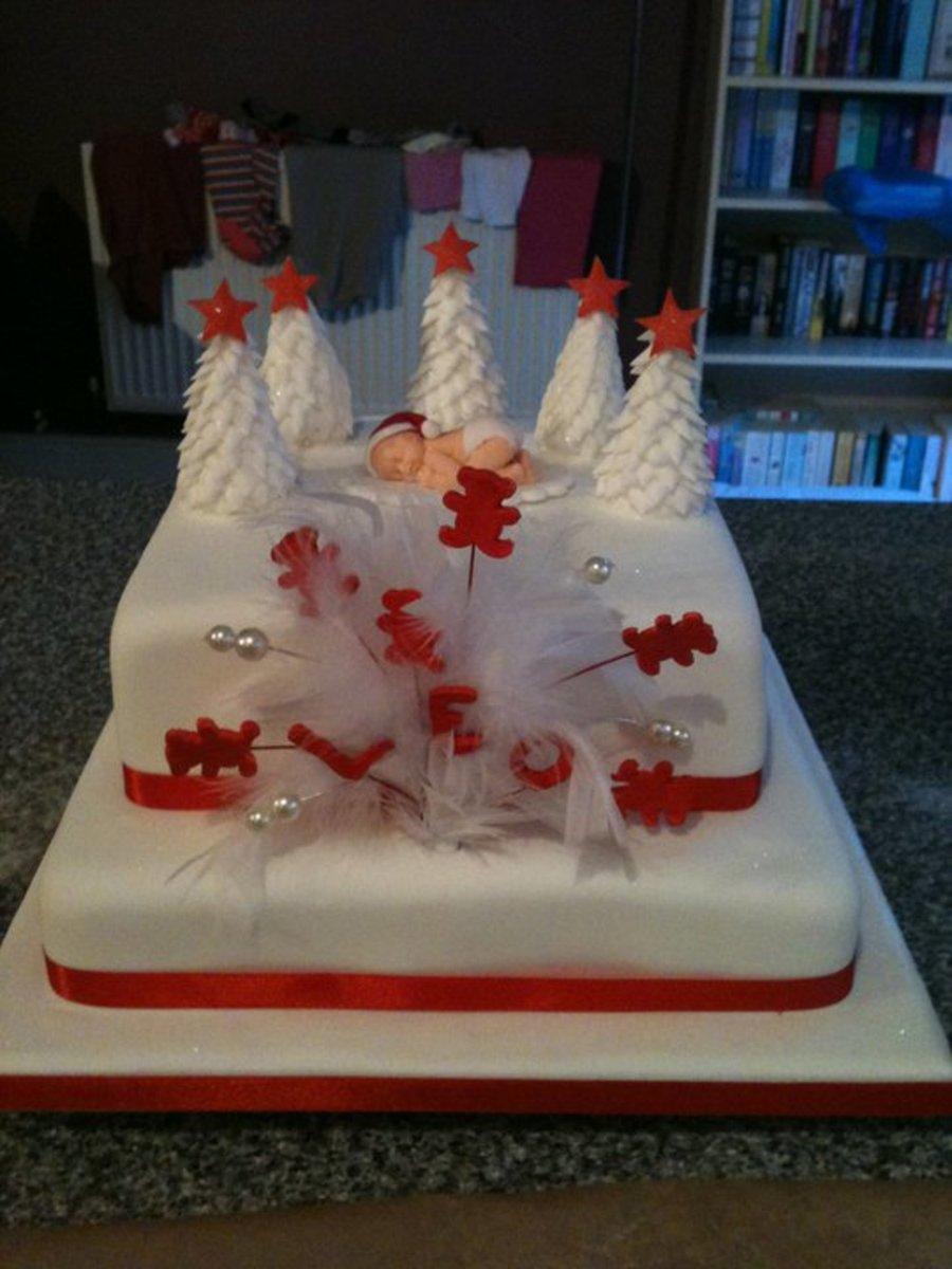 Christmas Christening.Christmas Christening Cakecentral Com