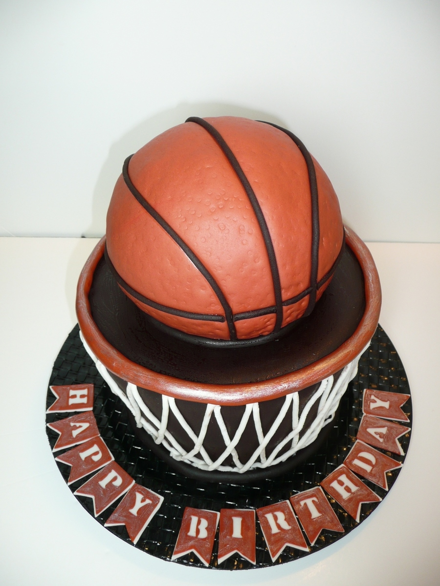 Basketball Birthday Cake CakeCentralcom