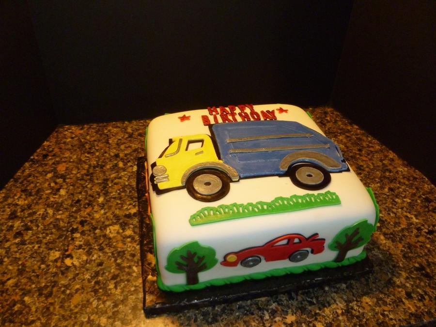 Groovy Garbage Truck Cake Cakecentral Com Personalised Birthday Cards Veneteletsinfo