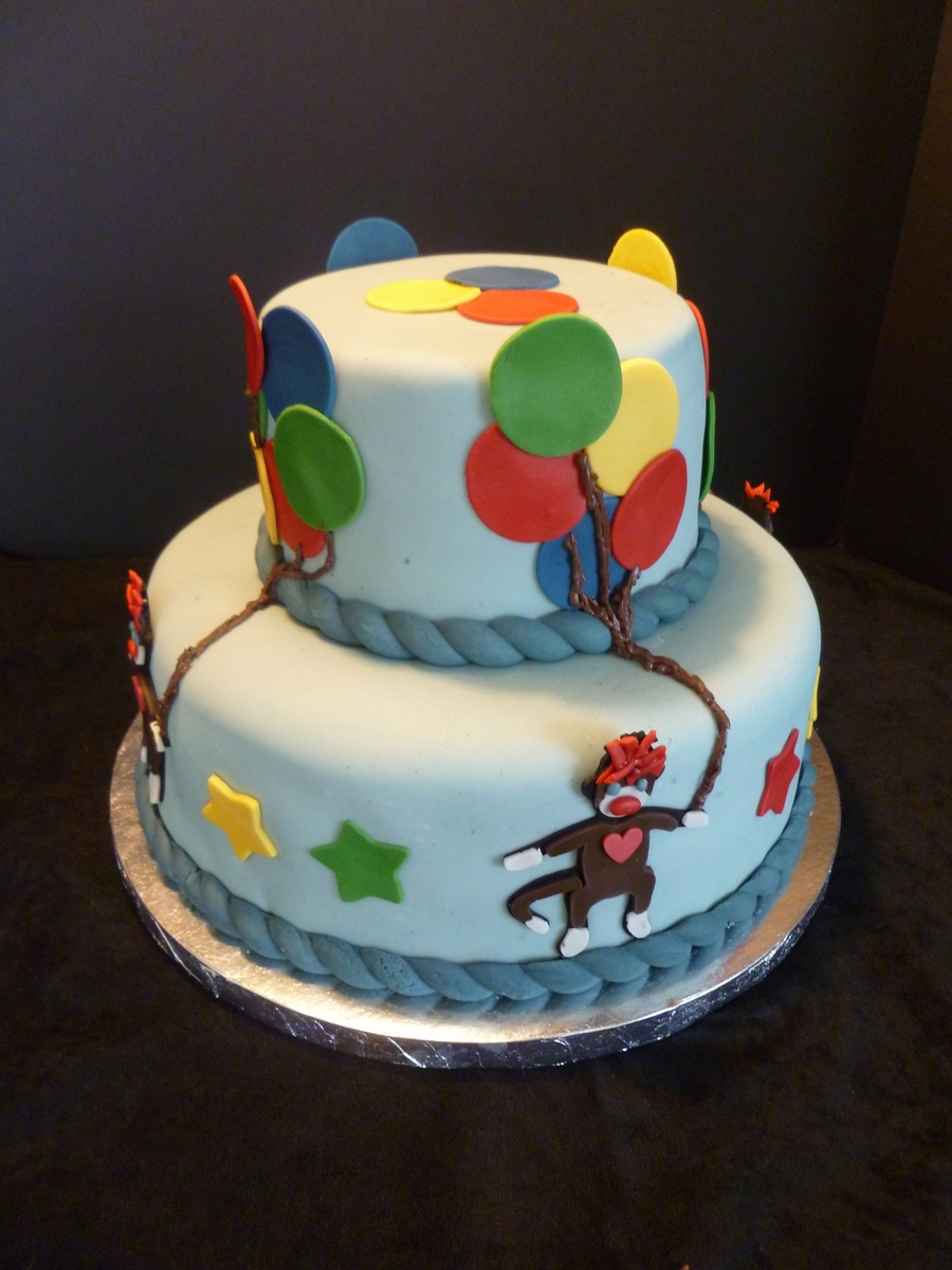 Sock Monkeys With Balloons on Cake Central