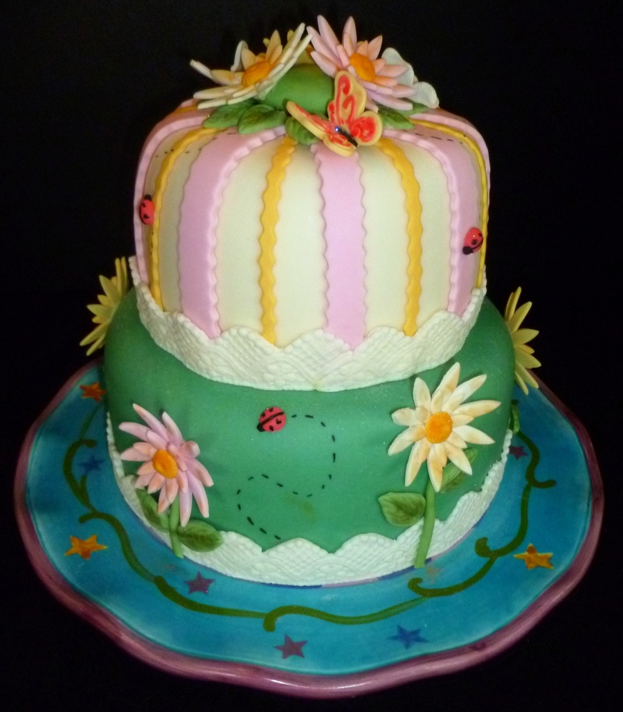 Flowers & Butterflies on Cake Central