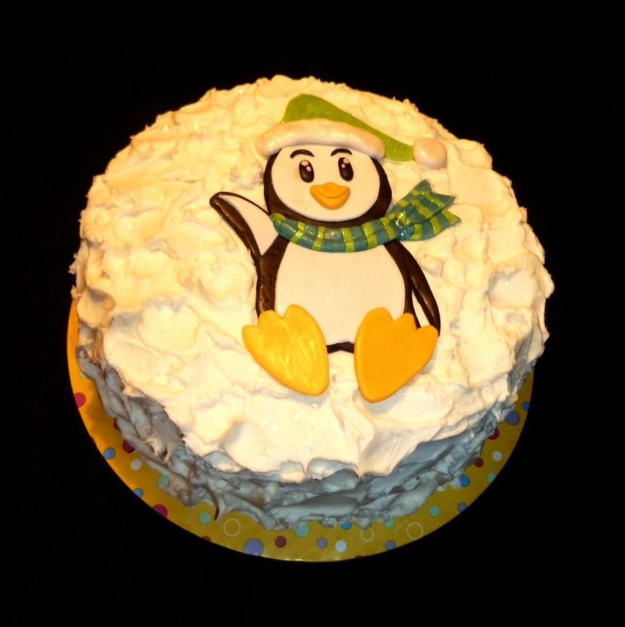 Winter Penguin  on Cake Central