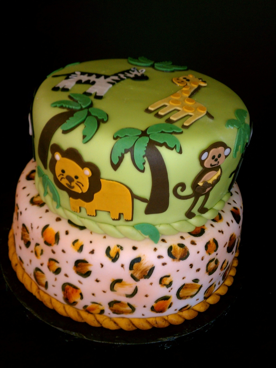 Cheetah Jungle Cake on Cake Central