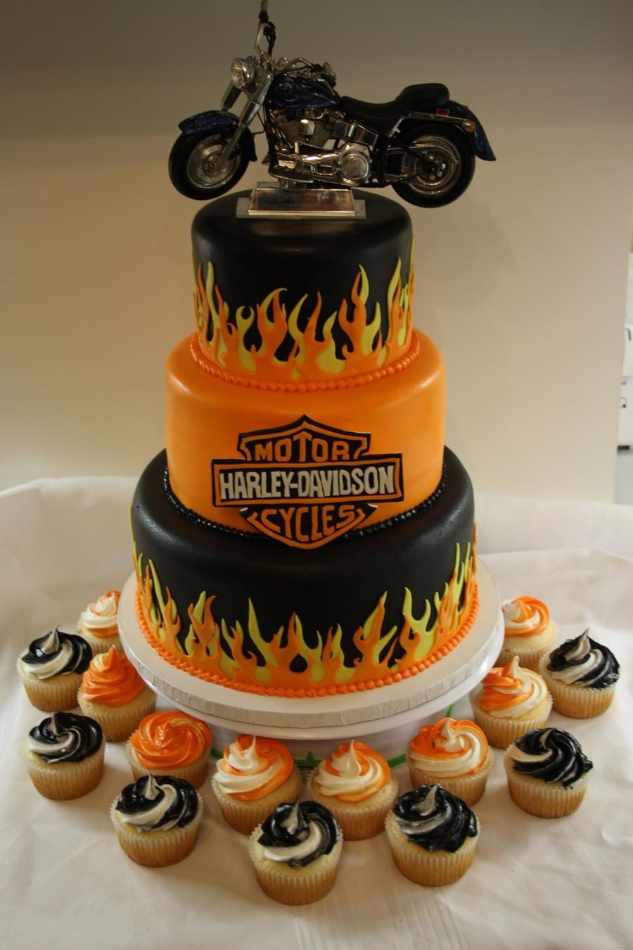 Cake Topper Harley Davidson