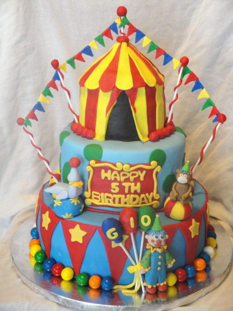 Circus Or Carnival Birthday Cake Cakecentral