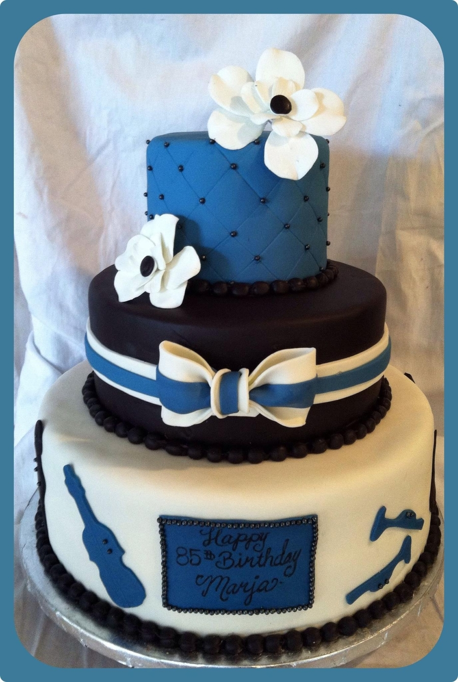 85Th Birthday Big Band Cake on Cake Central
