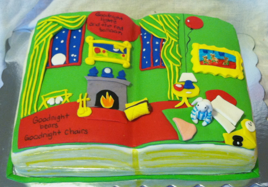 Goodnight Moon Children's Book on Cake Central