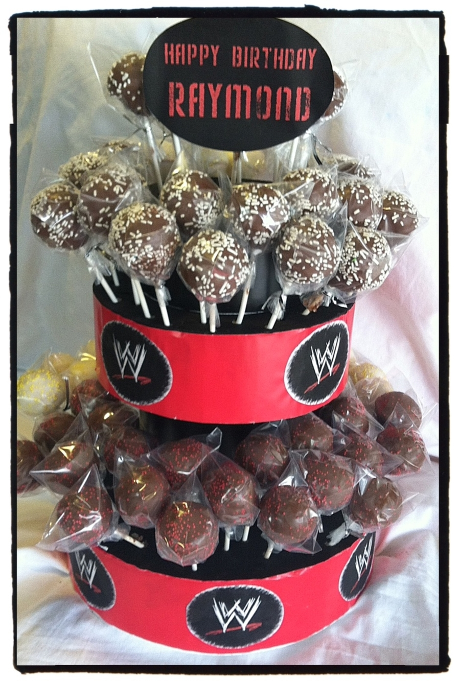 Wwe Wrestling Cake Pop Tower on Cake Central