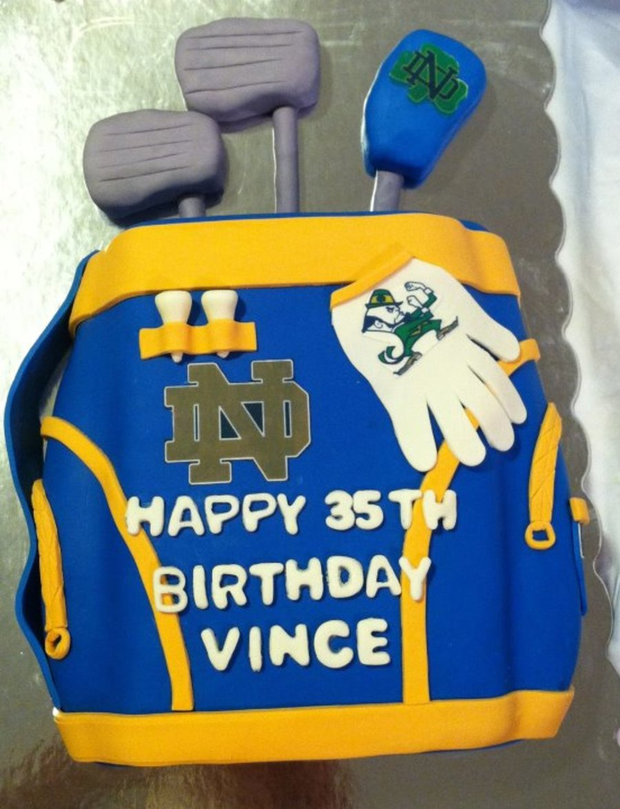 Notre Dame Fan Golf Set on Cake Central