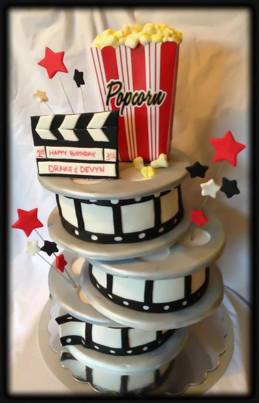 Hollywood Film Reels 3D Cake Movie Night on Cake Central