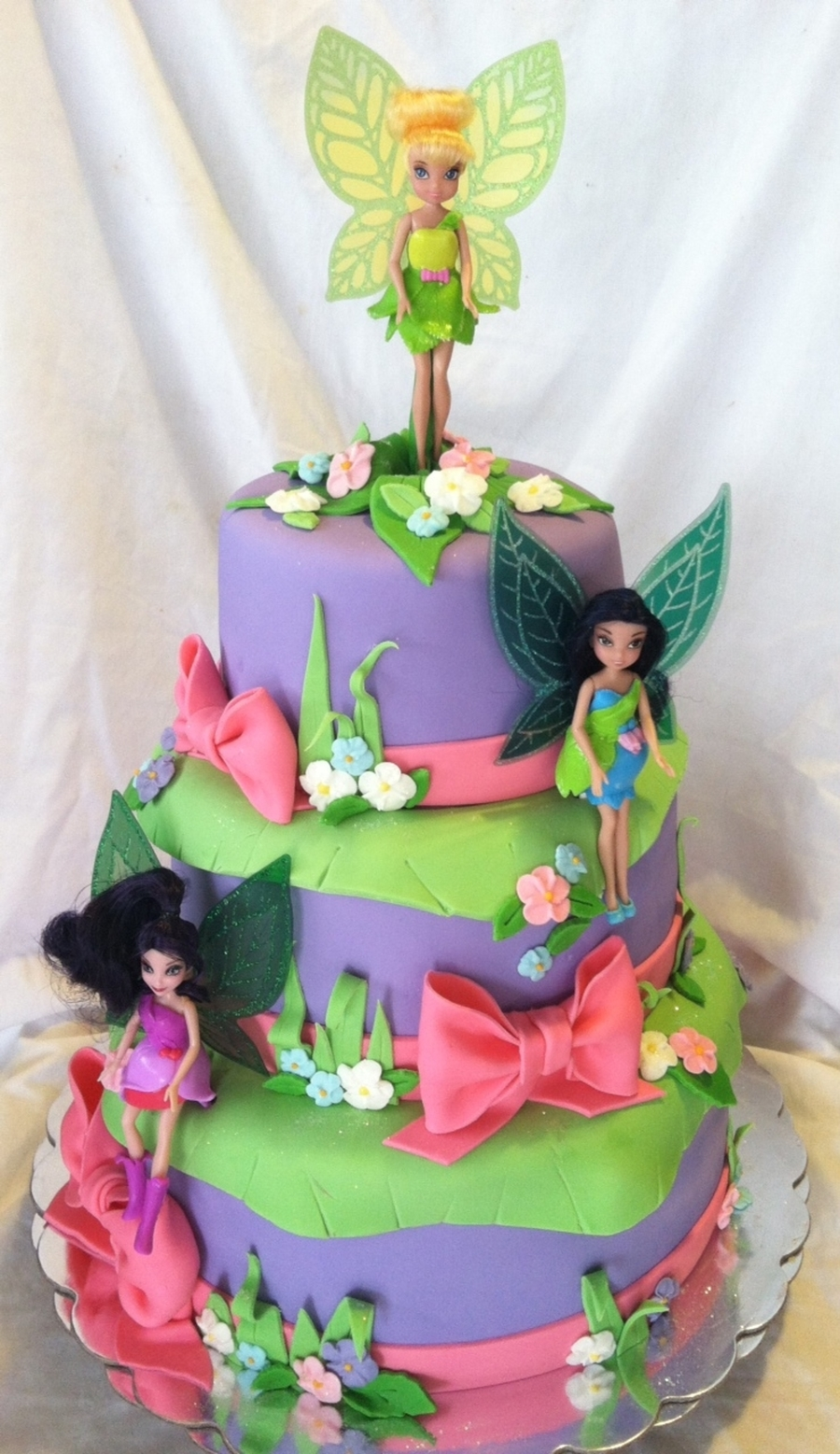Tinkerbell & Woodland Fairies  on Cake Central