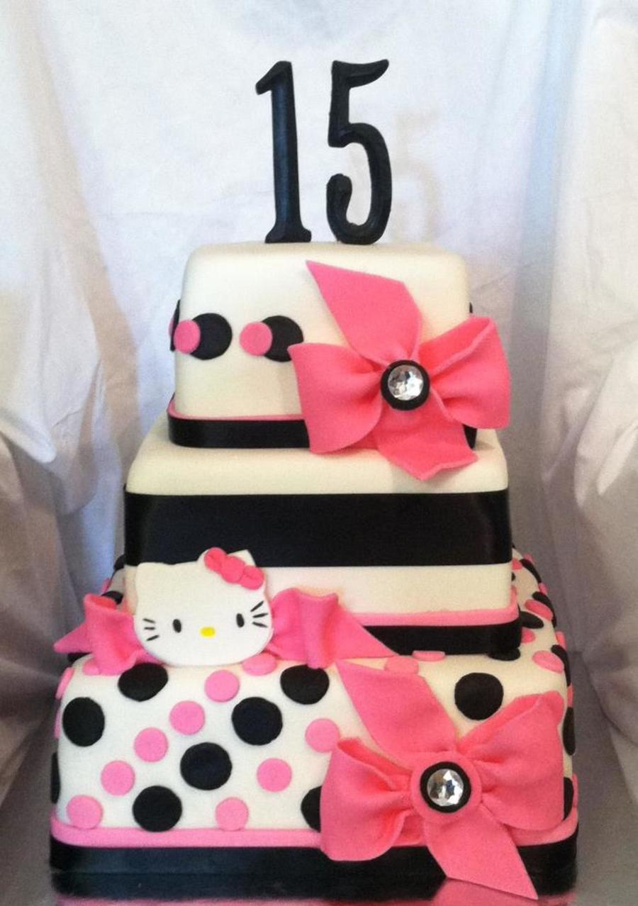 Zebra Hello Kitty Quince Cakecentral Com