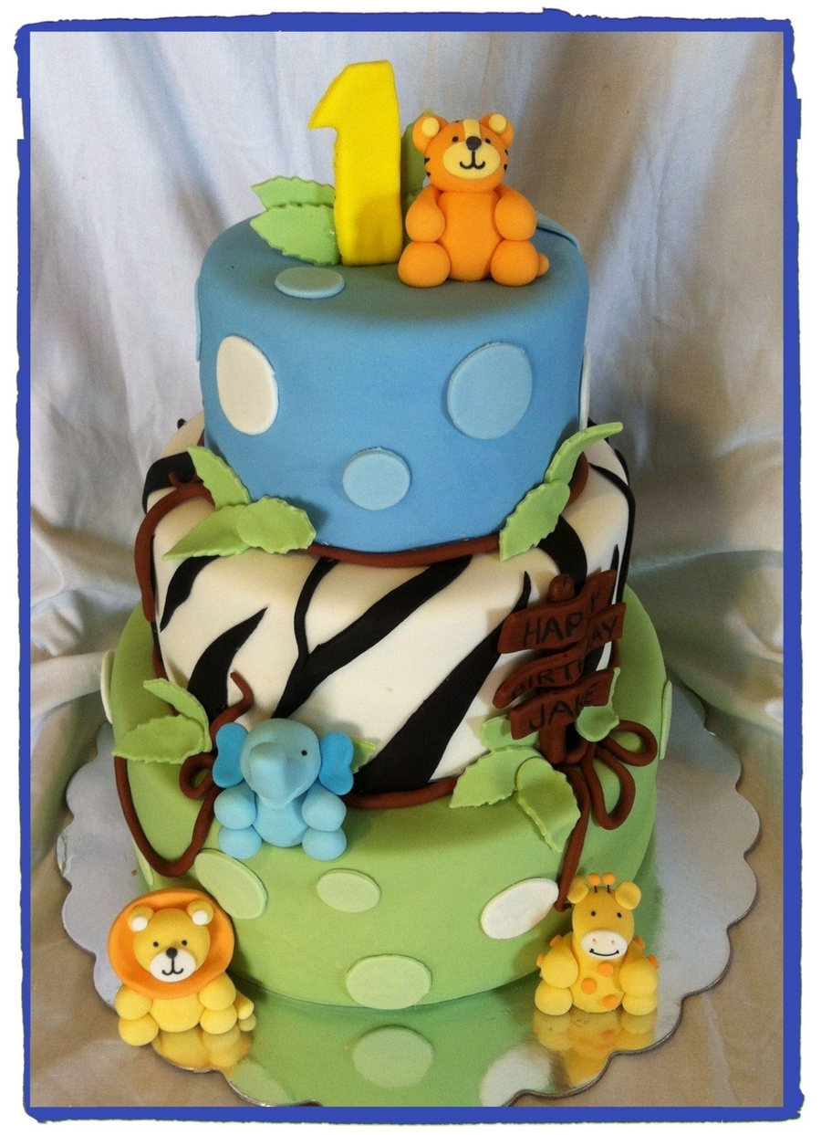 Jungle Baby Boy on Cake Central