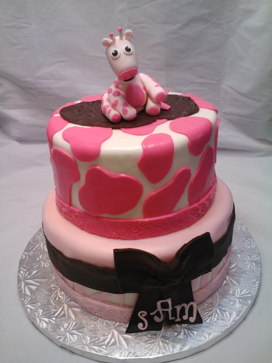 Giraffe Baby Shower Cake on Cake Central