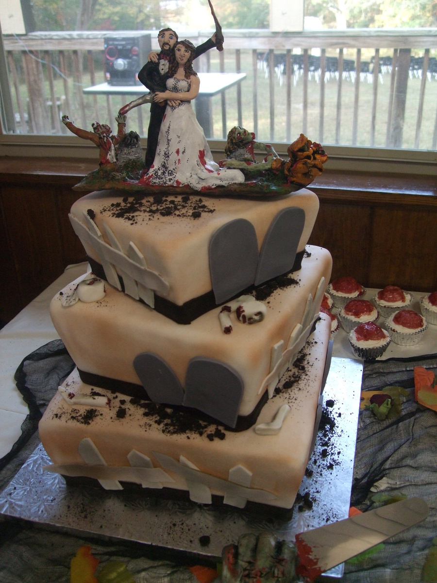 Zombie Wedding Cake on Cake Central