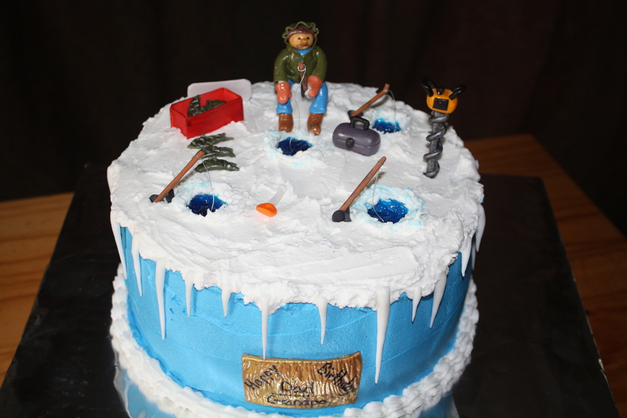 Ice Fishing Cake Cakecentral Com