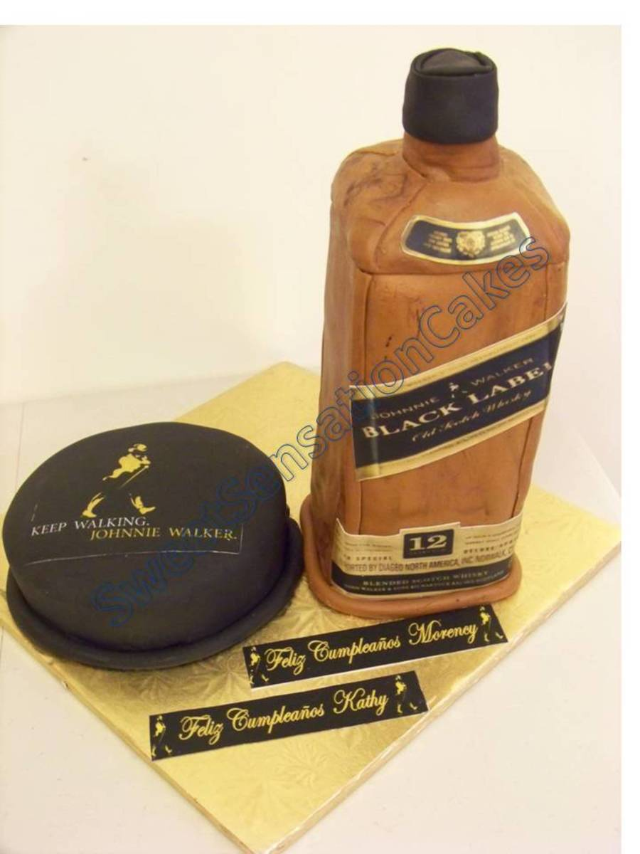 Stand Up Black Label Cake on Cake Central