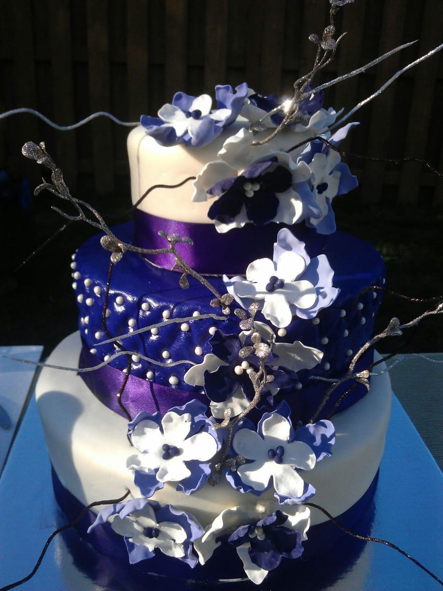 10 Year Anniversary Cake Purple Cakecentral Com