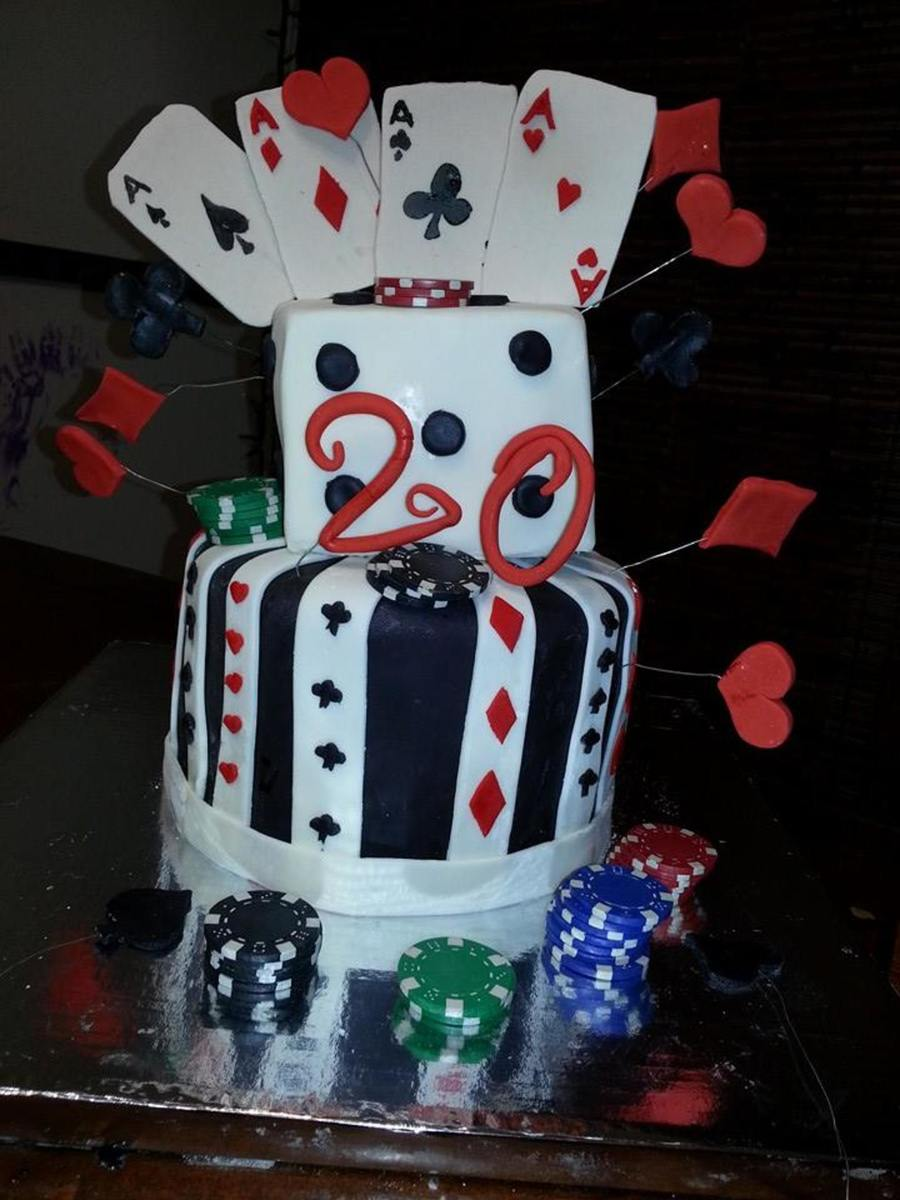 Fantastic 20 Year Old Poker Cake Cakecentral Com Personalised Birthday Cards Arneslily Jamesorg