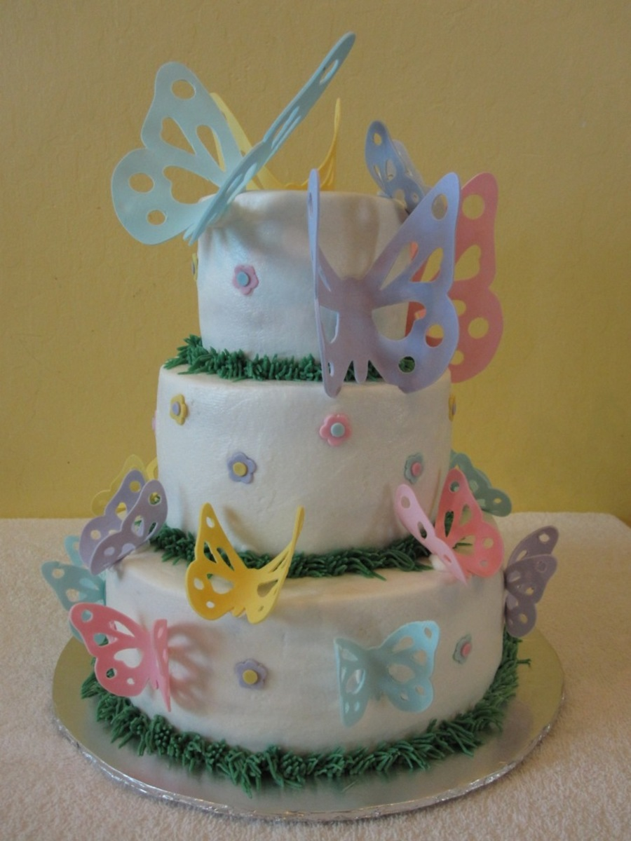 Spring Butterflies on Cake Central