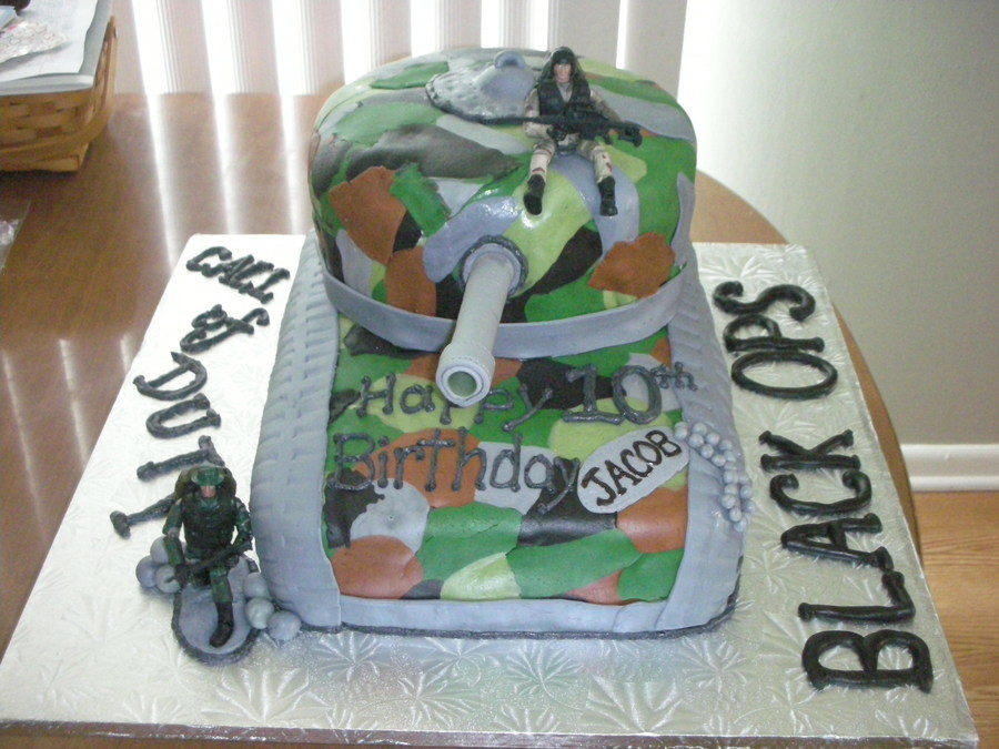 Call Of Duty Black Ops Tank Birthday Cake Cakecentral