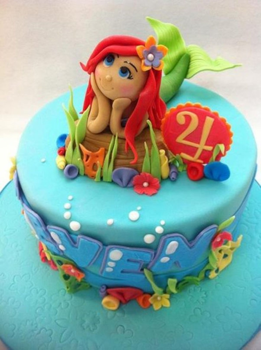 Little Ariel Cake - CakeCentral.com